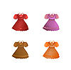 Vector clipart: Set of children dresses