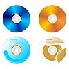 Векторный клипарт: набор DVD-диск с обеих сторон