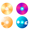 Vector clipart: set DVD disk