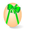 Vector clipart: by Easter egg with green bow