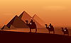 Vector clipart: Caravan of camels