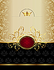 Luxus Gold Label mit Emblem