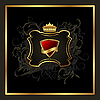Vector clipart: golden vintage with heraldic elements