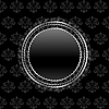 heraldic circle shield on floral background