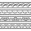 Векторный клипарт: цветочные элементы дизайна