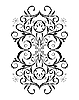 Vector clipart: Ornament In flower style