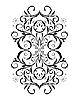 Векторный клипарт: Орнамент в цветочном стиле