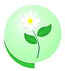 Vector clipart: Eco green button