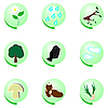 Vector clipart: Eco icon set