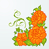 Vector clipart: cute orange flowers