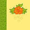 Vector clipart: romantic card with flower