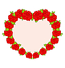 Vector clipart: beautiful flowers in form of heart