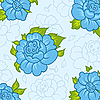 Vector clipart: beautiful pattern with blue flowers