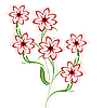 Vector clipart: Beautiful flowers