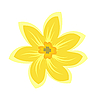 Vector clipart: Cartoon of flowers