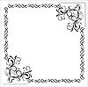 Vector clipart: Blank floral frame border