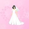 Векторный клипарт: Красота невесты на розовом фоне