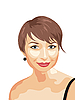 Vector clipart: photo realistic portrait of smiling girl