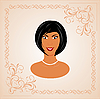 Vector clipart:  face portrait of beautiful girl