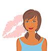 Vector clipart: sexy girl's face