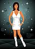 Vector clipart: Sexy girl dancing disco