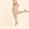 Векторный клипарт: фитнес-флаер с женским нижнем