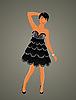 Vector clipart: beautiful girl dancing