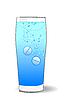 Векторный клипарт: Иллюстрация двух таблеток в воде