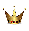 Vector clipart: royal gold crown