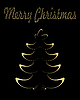 Vector clipart: Gold christmas tree