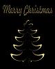 Векторный клипарт: Золотая рождественская елка