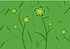 Vector clipart: Green flower background for design of cards or invitation
