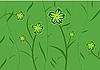 Векторный клипарт: Зеленый фон цветок для дизайна карт или приглашение