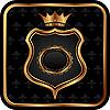 Vector clipart: elegant gold heraldry frame