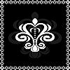 nette Karte mit floralen Emblem