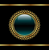 Векторный клипарт: золотой цветочный медальон для упаковки