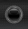 Векторный клипарт: Иллюстрация геральдический щит круг на металлический фон