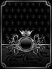 Векторный клипарт: алюминиевый фон с декоративной медальон, элементы дизайна