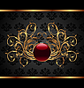 Vector clipart: gold invitation frame or packing