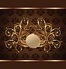 Vector clipart: gold invitation frame or packing for elegant design
