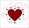 Vector clipart: Heart, love, the Valentine's day