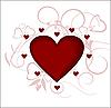 Векторный клипарт: Сердце, любовь, день святого Валентина