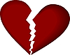 Vector clipart: Broken heart on white