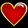 Vector clipart: golden heart