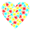 Vector clipart: flowers heart for valentine's day