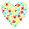 Векторный клипарт: Иллюстрация сердце цветы на День святого Валентина
