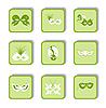Векторный клипарт: набор иконы карнавал маска