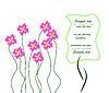 Векторный клипарт: Поздравительная открытка или приглашение - используйте для ливней, свадеб, вечеринок
