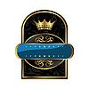 Векторный клипарт: королевская этикетка с короной для упаковки алкоголя