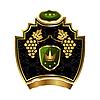 Векторный клипарт: Gold Label с виноградной лозы с короной